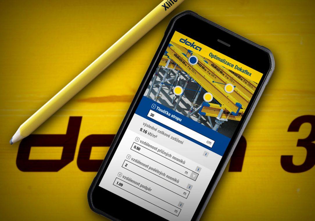 Snadné naplánování bednění pro svislé nebo vodorovné konstrukce nabízí například nástroje Doka Tools. Díky nim můžete jednoduché konstrukce plánovat třeba na chytrém telefonu.