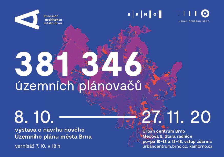 Pozvánka k výstavě 381 246 územních plánovačů