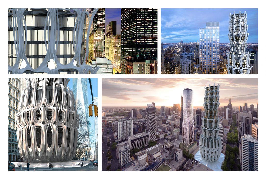 Agave building, design study - projekt reagující na změnu klimatu / autor: Ondřej Pokoj
