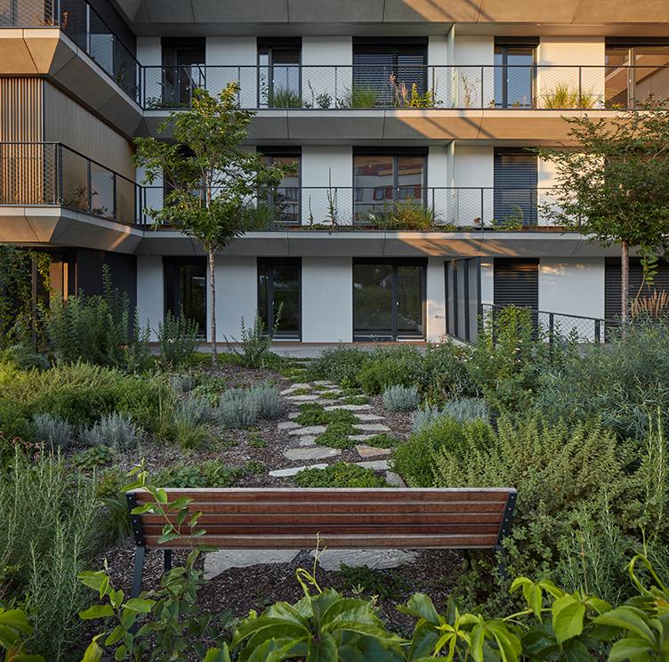Zahrada rezidenčního projektu Sakura