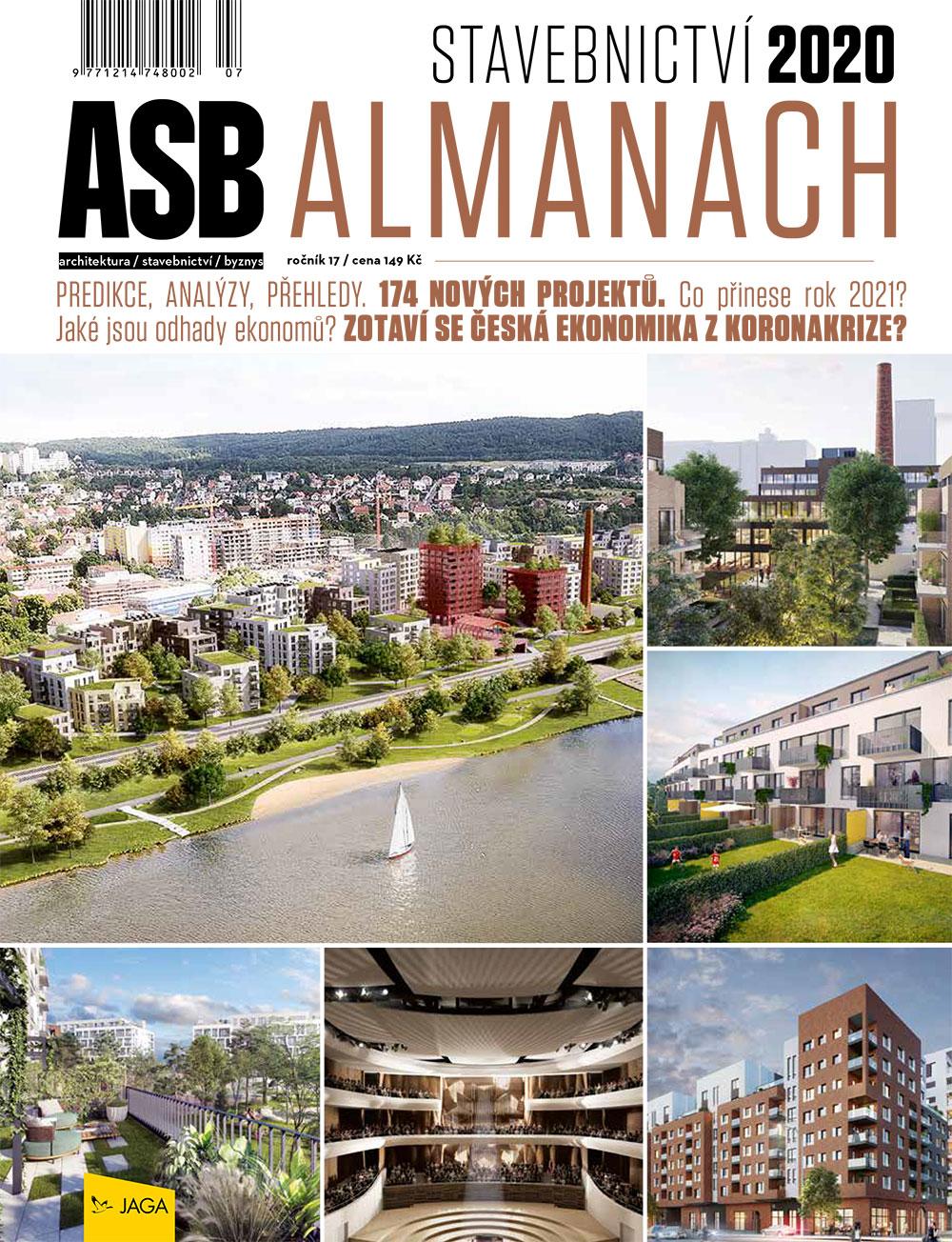 Obálka ASB Almanach Stavebnictví 2020