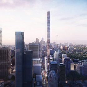 Mrakodrap s názvem 1200 Bay Street bude mít konstrukční poměr 3 : 1, což znamená, že jeho délka je přibližně trojnásobkem jeho šířky.
