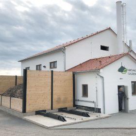 Pohled na budovu kotelny v Dukovanech