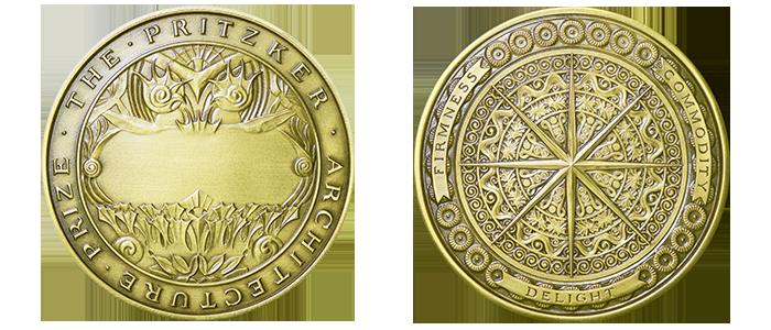 Bronzová medaile pro vítěze Pritzkerovy ceny Pritzker Price