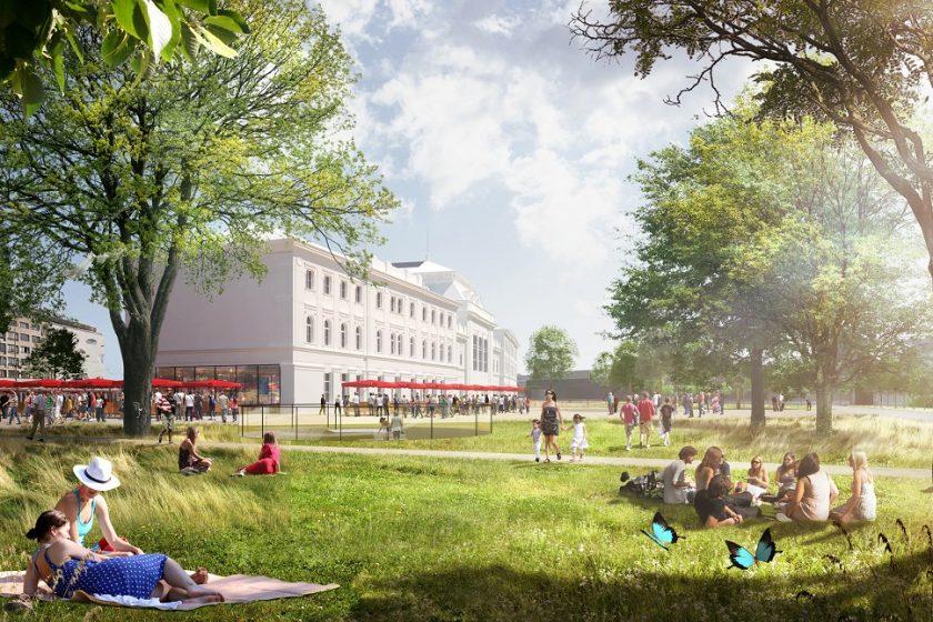 Budoucnost centra Brna park na miste stavajiciho kolejiste