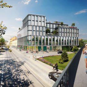 JRD administrativni budova Viadukt Andel vizualizace