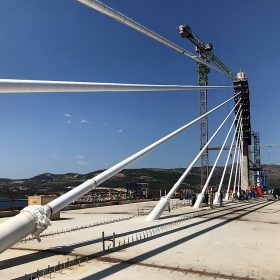 Pelješac bridge Pelješki most deck and cables 2021 07 21