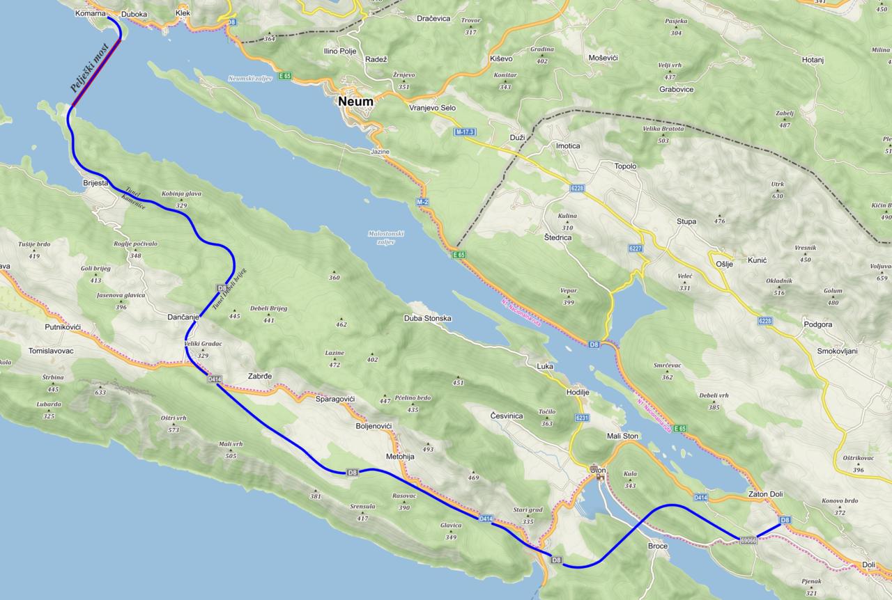Pelješac bridge and new link roads Pelješki most i nove pristupne ceste