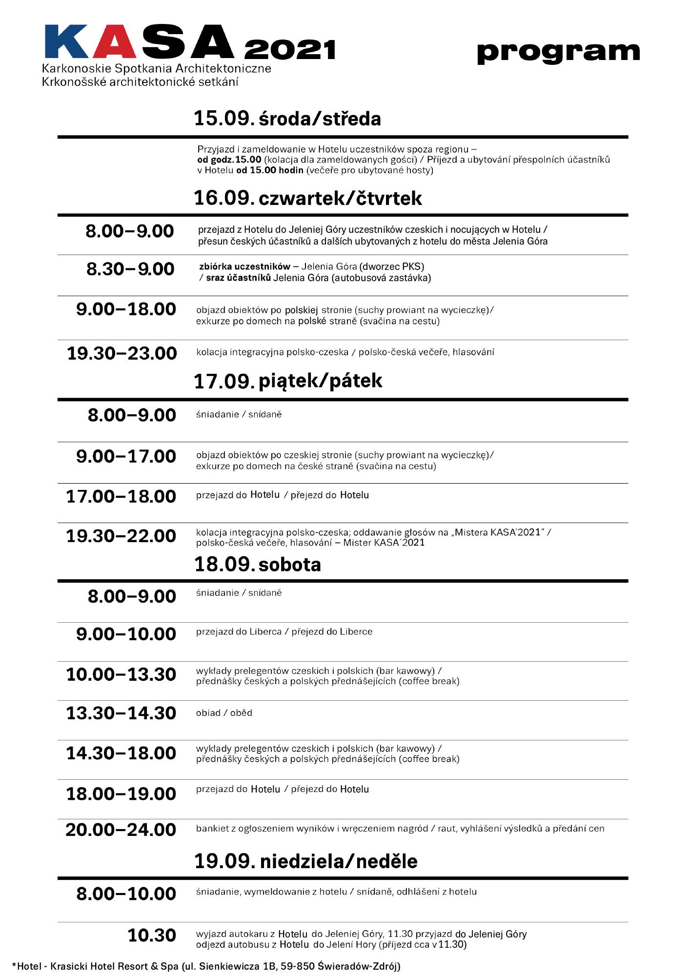 KASA 2021 Program exkurze