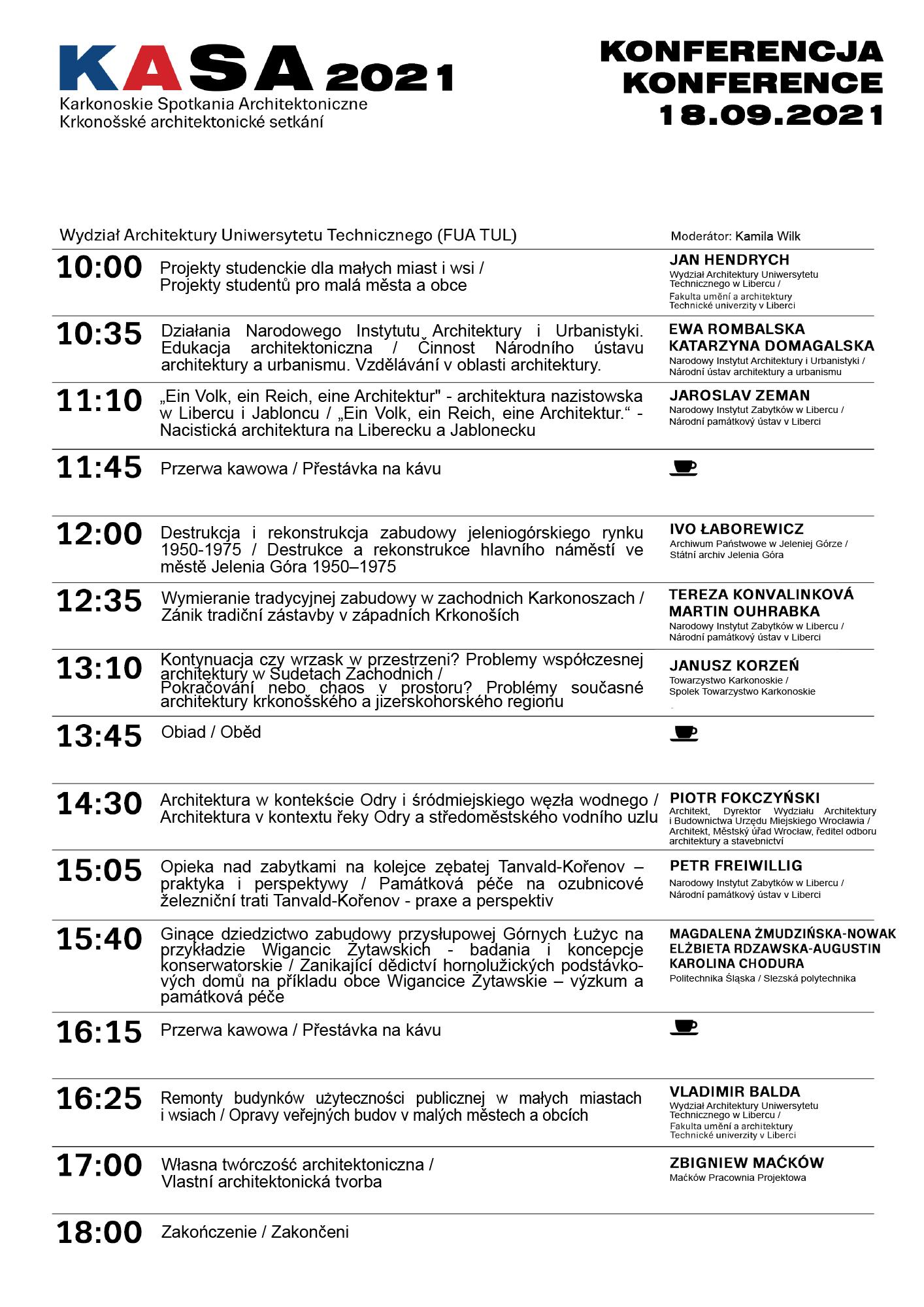 KASA 2021 Program konference