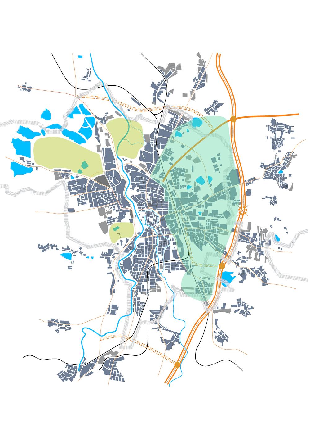 A8000 Východní část ČB zeleně