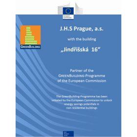 Budovy Jungmanova 15 a Jindřišská 16 v Praze získaly ocenění EU GreenBuilding