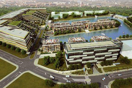 Business park a rezidenční komplex v Libeňských docích