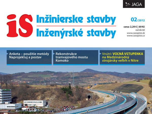 Časopis Inžinierske stavby/Inženýrské stavby 2/2012 v prodeji