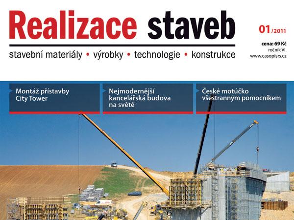 Časopis Realizace staveb 1/2011 v prodeji