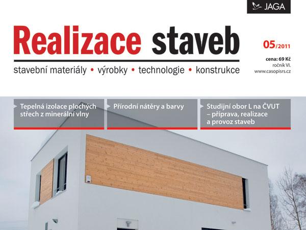 Časopis Realizace staveb 5/2011 v prodeji