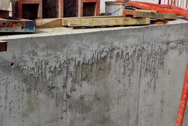 Chyby vznikající při realizaci pohledového betonu
