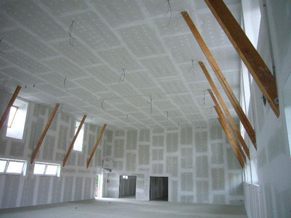 Desky FERMACELL se uplatňují v sportovních a víceučelových halách