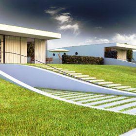 DRNH staví domy jako terénní vlny