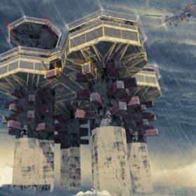 Fantaskní stavby na širém moři