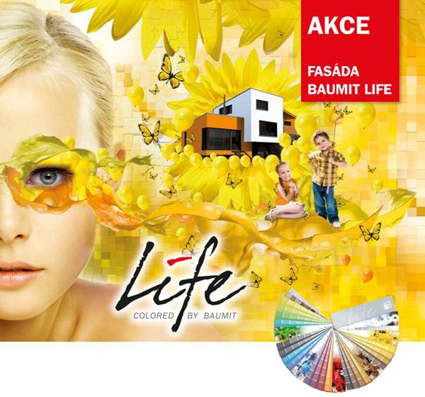Fasáda Baumit Life: Nyní bez příplatku za barevný odstín