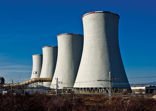 Generální oprava chladicích věží v elektrárně Tušimice II