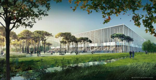 Herzog & de Meuron staví energeticky soběstačný fotbalový stadion