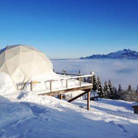 Hotel ze sněhových koulí