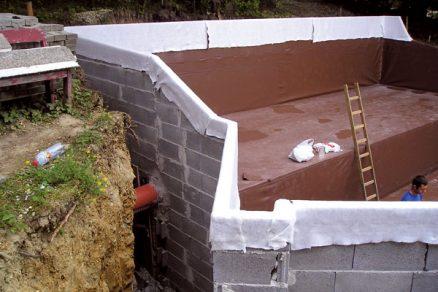 Hydroizolace spodní stavby mPVC fólií