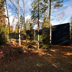 Maskovaný rodinný dům v lese