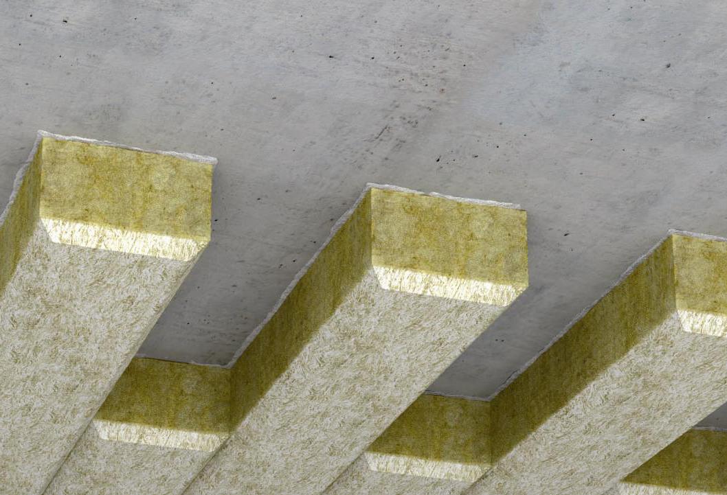 Zateplení stropů spodem s vylepšenou frézovanou izolační lamelou Fasrock LG1
