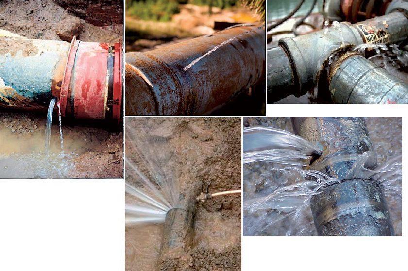 Strukturální poruchy vodovodních potrubí