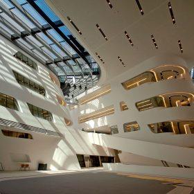 Nový kampus ve Vídni s knihovnou od Zahy Hadid