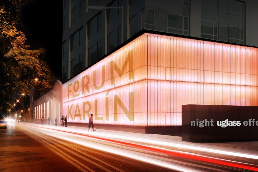 Forum Karlín dostalo speciální fasádu