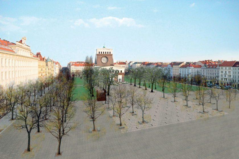Proměna náměstí u Plečnikova kostela