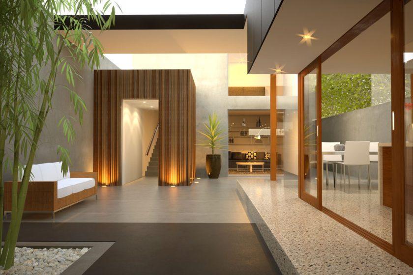 Kuchyňskou linku i fasádu rodinného domu rozzáří barevný beton
