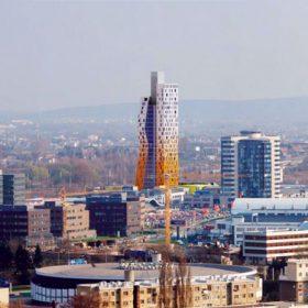 Brněnský mrakodrap AZ Tower poutá pozornost výškou i svým tvarem