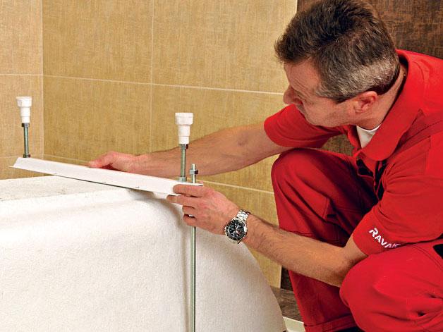 Instalace akrylátové obdélníkové vany
