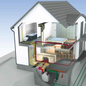 Řízené větrání s rekuperací tepla pro rodinné domy a byty