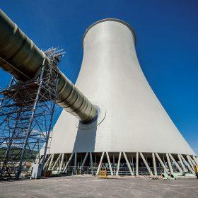 Rekonstrukce chladicích věží v elektrárně Prunéřov II