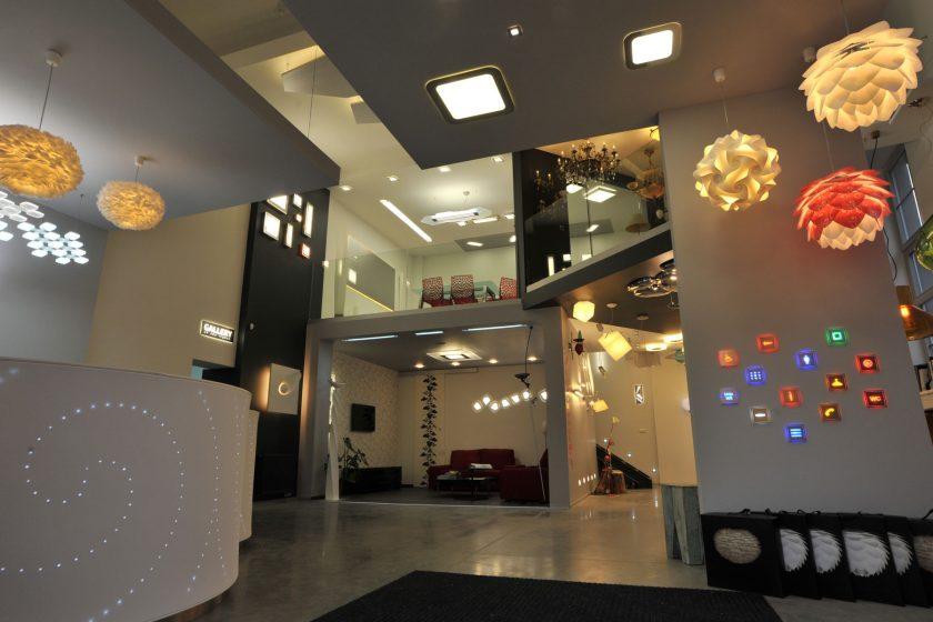 Showroom plující vzduchem