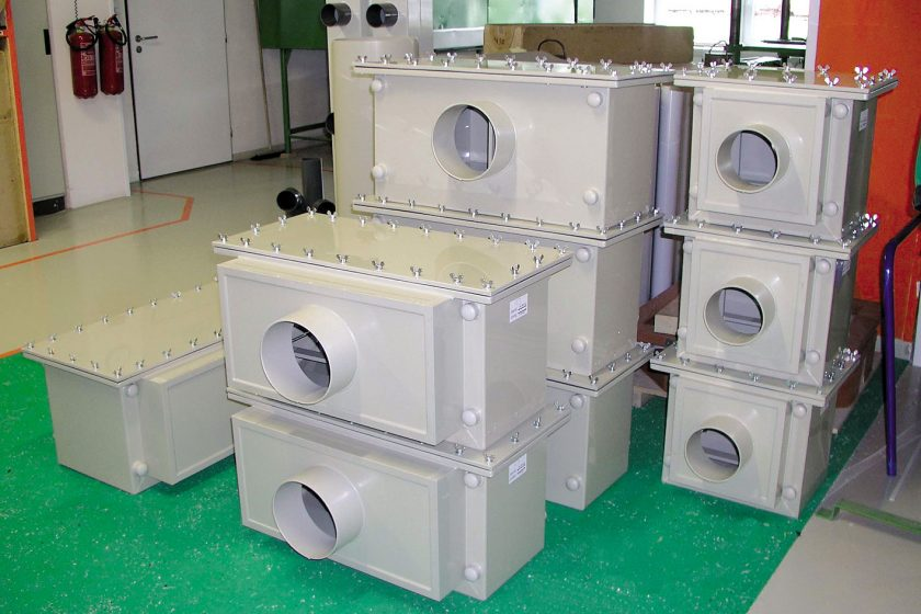 Filtrační boxy z plastů