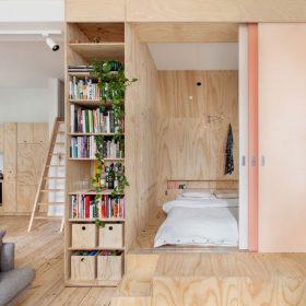 2 ložnice, kuchyň a obývací pokoj v jednom prostoru