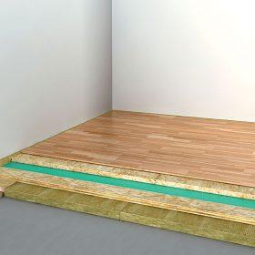 Realizace akustické izolace lehké podlahy