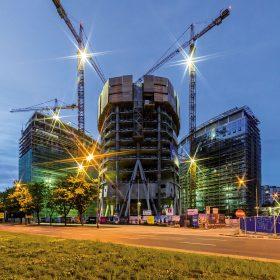 Využití samošplhavého bednění - nejvyšší budova Varšavy