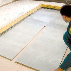 Plovoucí podlaha zcementotřískových desek