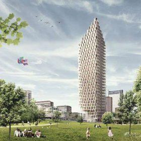 Ve Stockholmu vyroste dřevěný mrakodrap o 34 podlažích