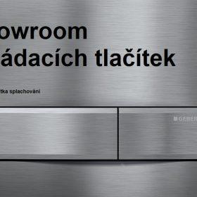 Showroom ovládacích tlačítek Geberit
