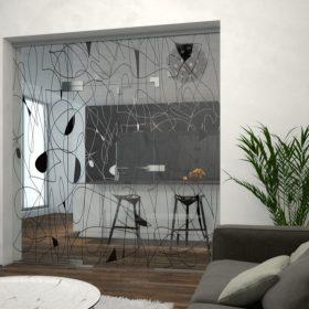 Skleněná stěna ozvláštní interiér