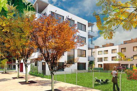 Nízkoenergetické byty svelkorysým venkovním prostorem